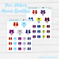D074 - Moonie Bow Clips
