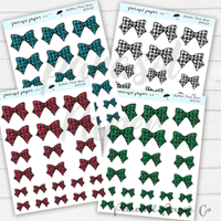 D043 - Buffalo Plaid Bows