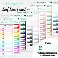 F037 - Bill Due Label - Multicolor