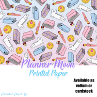 Planner Moon - Vellum and Cardstock Paper
