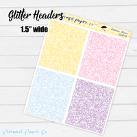 Planner Moon - Glitter Headers