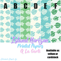 Island Horizon - Printed Papers - a la carte