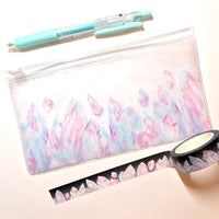 Watercolor Crystal Vinyl Pouch