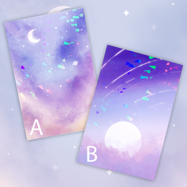Soft Skies Holographic Mini Print Journaling Cards