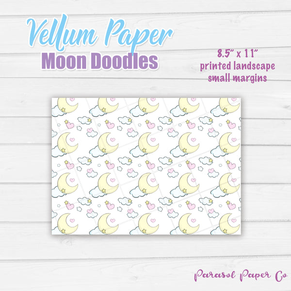 Moon Doodles - Vellum and Cardstock Paper