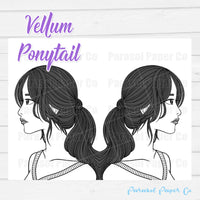 Ponytail - Vellum and Cardstock Paper