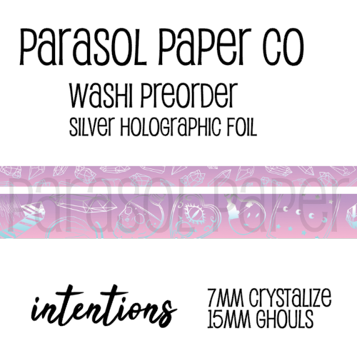 [Pre-Order] Ghouls Intentions Foiled Washi Set