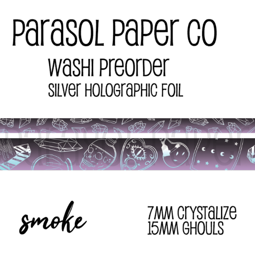 [Pre-Order] Ghouls Smoke Foiled Washi Set
