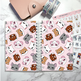 small reusable sticker book