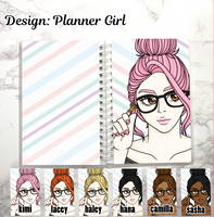 reusable sticker book planner girl
