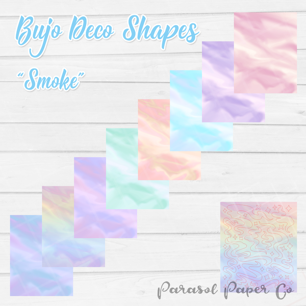 Bujo Deco Shapes - Smoke- BCS004