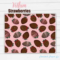 Strawberries - Vellum and Cardstock Paper