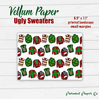 Ugly Xmas Sweater- Vellum Paper