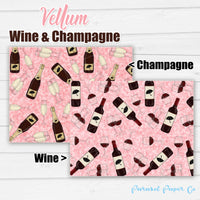 Wine & Champagne - Vellum and Cardstock Paper