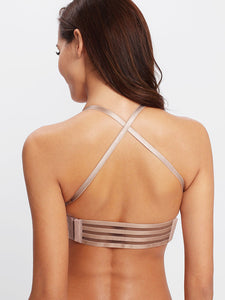Lace Up Criss Cross Bra