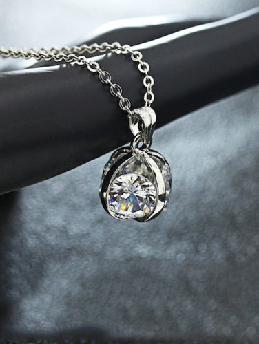 Rhinestone Pendant Chain Necklace