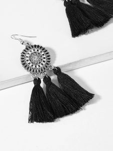 Tassel Sector Drop Earrings