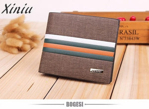 Men Wallets work Business Striped Short