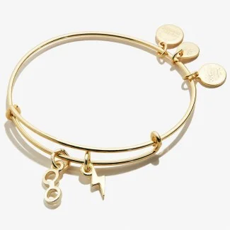 GOLD - bangle charm bracelet - miscellaneous charms