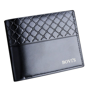 fashion Men Wallets Leather Card Cash Receipt