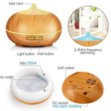 Load image into Gallery viewer, 300ml Aroma Essential Oil Diffuser Wood Grain