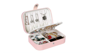 Pink Leather Jewelry Case