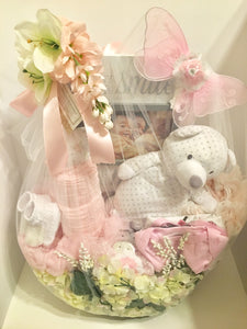 """Pretty in Pink"" baby basket!"