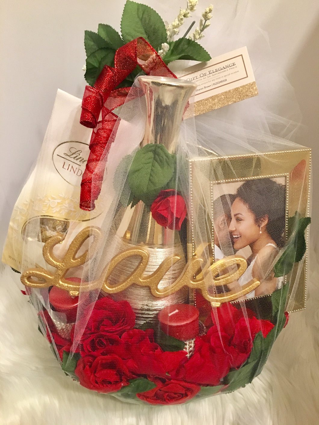 Golden Hearts Valentine's Day Basket