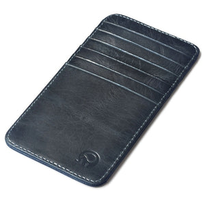 fashion black leather card holder men super