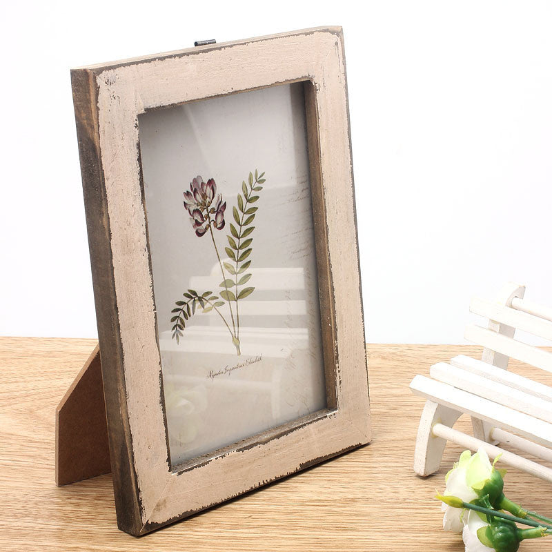 Vintage Photo Frame Home Decor Wooden Wedding Casamento Pictures Frames WH