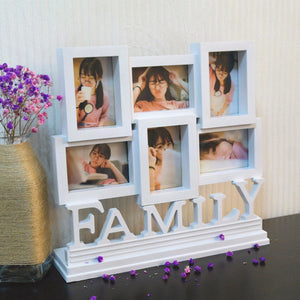 Family Picture Frames Photo Frame Wall Hanging Holder Display Home Decor Gift