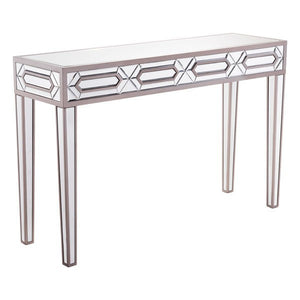 G.O.E Hexa Console Table Mirror And Gray