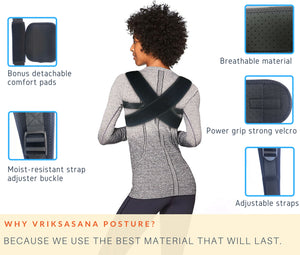 Posture corrector for women that uses breathable and durable material