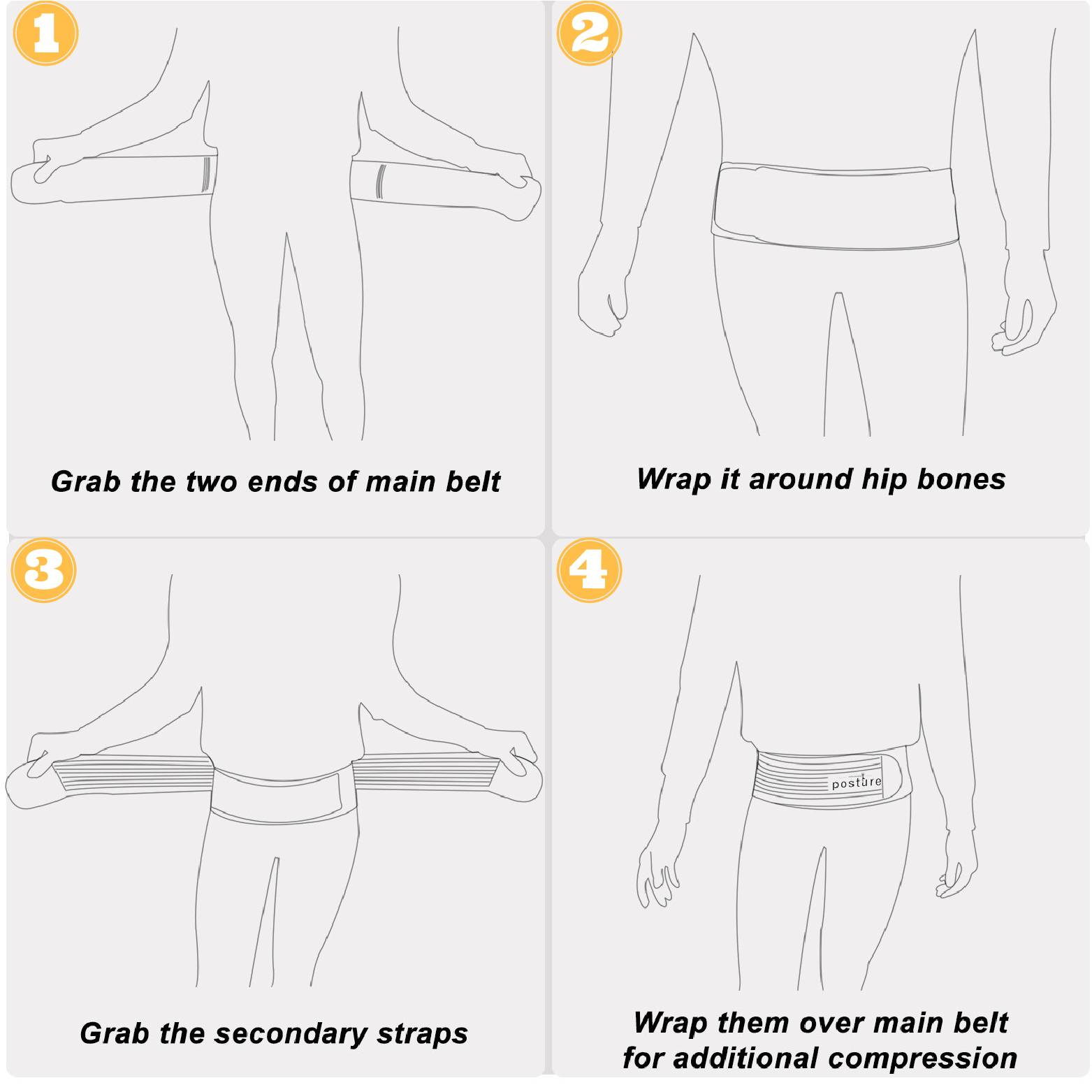 Sacroiliac SI joint belt instruction manual