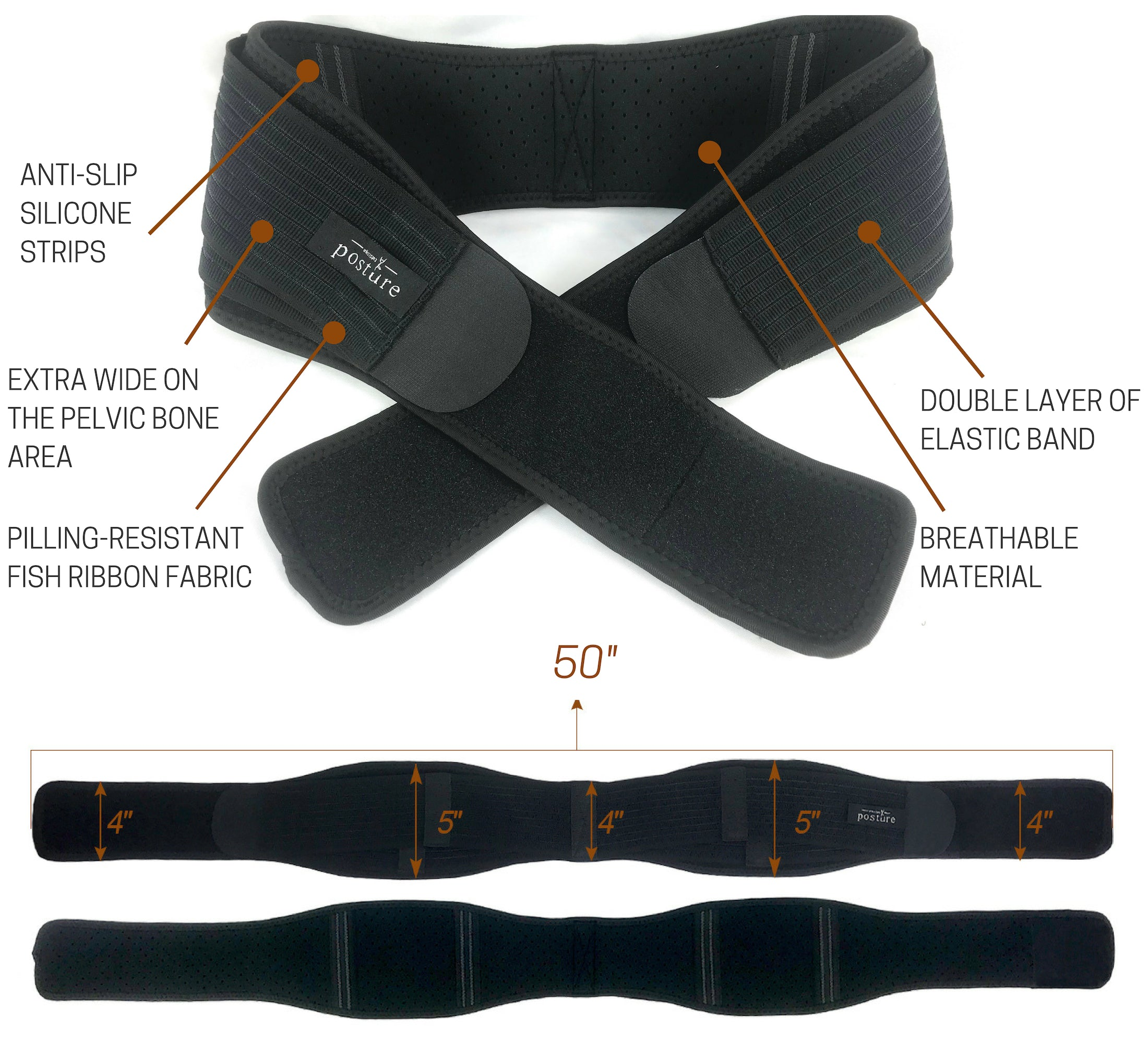 Si Belt that Alleviates Pelvic, Back and Leg and Nerve Pain