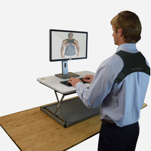 Discreet posture corrector that helps prevent slouching. It's great for work place, gym and at home