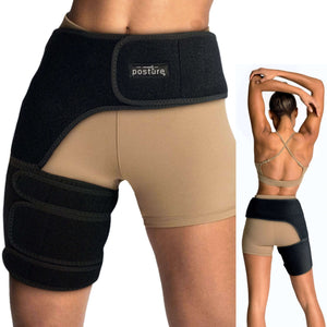 Groin Compression Wrap | Sciatica Support Brace | Hamstring Sleeve