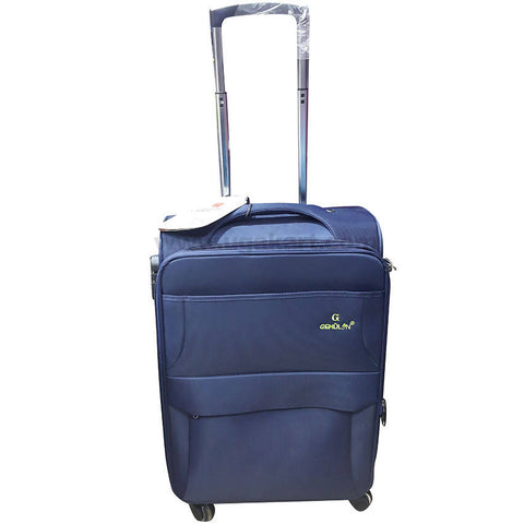 Gemulan Navy Blue Spinner Luggage Suitcase (Medium)