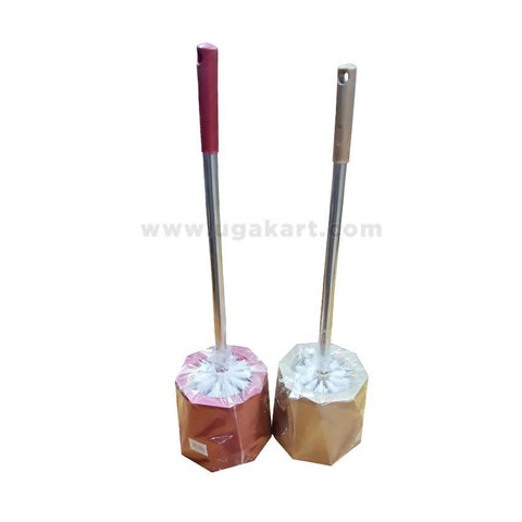 Toilet Brush-Maroon & Brown-Each