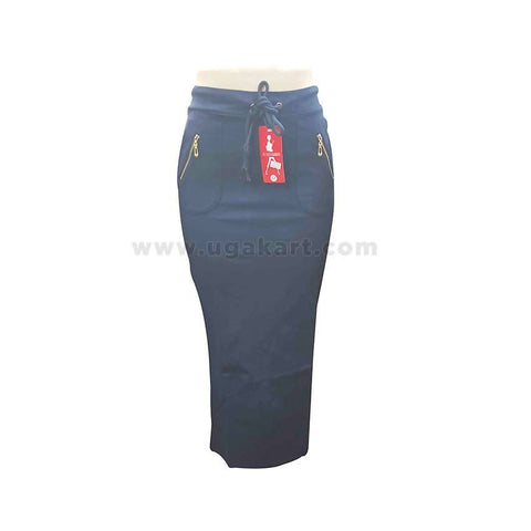 Navy Blue Long Pencil Ladies Skirt