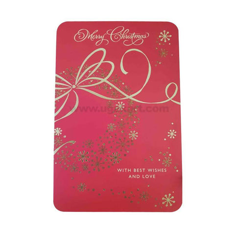 Merry Christmas Greeting Card_Red