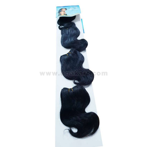 Human Hair-Black - 4 Pc With 6 Inch
