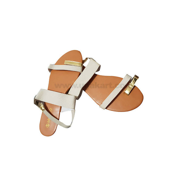 Womens OPEN SHOES CREAM and Brown