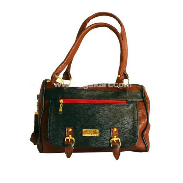 Leather Messenger Handbag For Women - Black, Coffee Brown