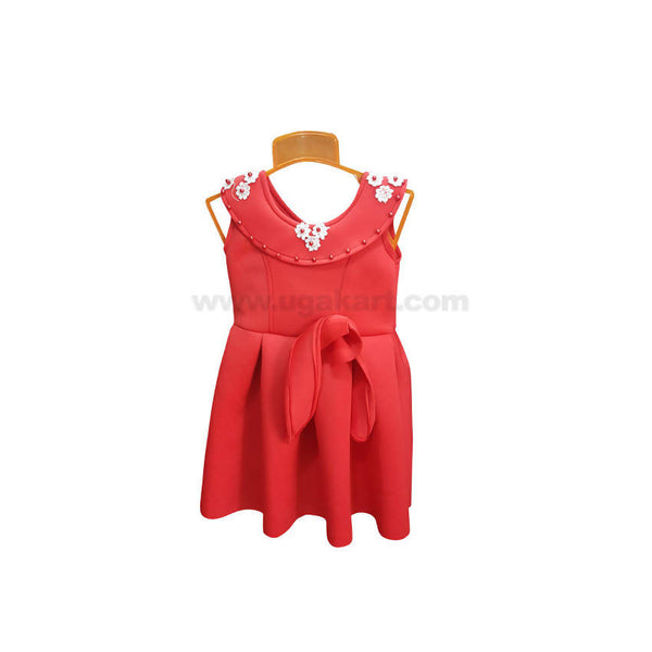 Red/Pink Color Frock For Girl_1 to 5 yr