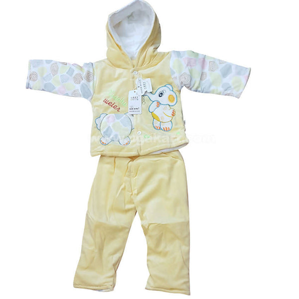 Light Yellow Color Night Dress For Kids 0 to 6 months