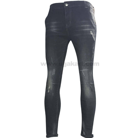 Destroyed Black and White Shade Jeans For Women_28 to 34