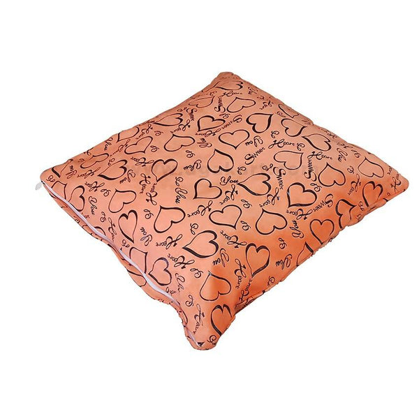 Peach Orange Color pillow case With Cushion