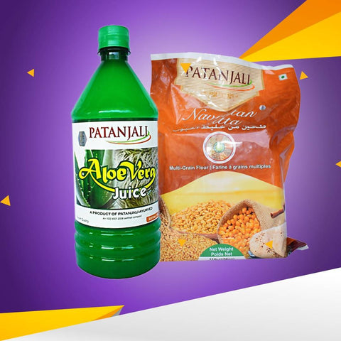Patanjali Navratan Atta,Patanjali Aloe Vera Juice Plain Value Pack