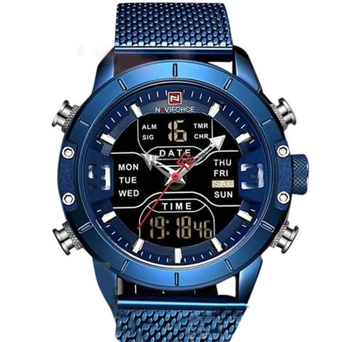 NAVIFORCE Men's Stainless Steel Watch Blue